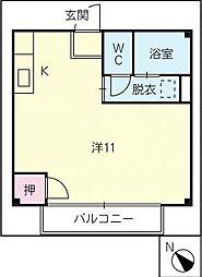 ホームバロン[2階]の間取り