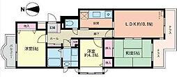 コスモ藤沢[501)号室]の間取り