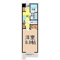WillDo太閤通(ウィルドゥタイコウドオリ)[4階]の間取り