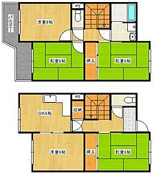 [一戸建] 福岡県久留米市東櫛原町 の賃貸【/】の間取り