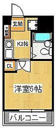 ルーラルタウン参番館[1階]の間取り