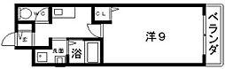 ラポール帝塚山[3階]の間取り