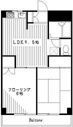 東京都杉並区上井草4丁目の賃貸マンションの間取り