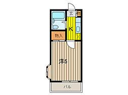 コスモシティ中浦和[1階]の間取り