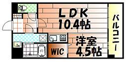 竪町センタービル[302号室]の間取り