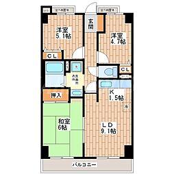 シェモア平野駅前[10階]の間取り
