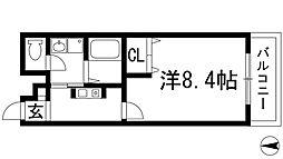 兵庫県宝塚市中筋8丁目の賃貸マンションの間取り