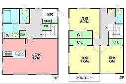 [テラスハウス] 神奈川県茅ヶ崎市松が丘2丁目 の賃貸【/】の間取り