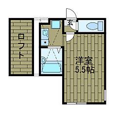 ロッシェル東林間3[2階]の間取り