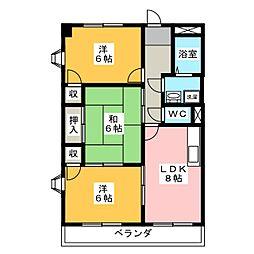 グローリアスII[2階]の間取り