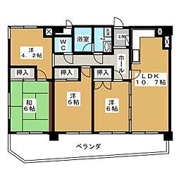 コンドミニアム姫池[1階]の間取り