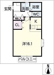 イーハトーブB棟[2階]の間取り