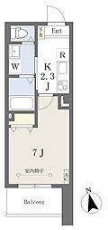 荒町賃貸住宅 3階1Kの間取り