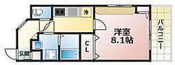 兵庫県神戸市灘区新在家南町5丁目の賃貸アパートの間取り