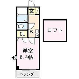 MONA-E[203号室]の間取り