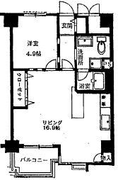 第1ロイヤルハイツ中尾[6階]の間取り