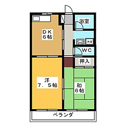 メゾンキタハマ[2階]の間取り