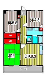 バルトハイム[5階]の間取り