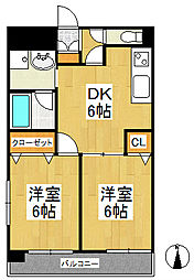 天神アコールマンション[9階]の間取り