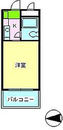 シティホームズ針中野パート1[2階]の間取り