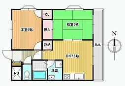 澤村マンション[2階]の間取り