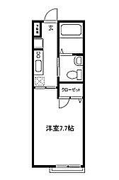 タネック鵜の木 bt[103kk号室]の間取り