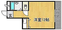 タイセイパレス雁屋[3階]の間取り