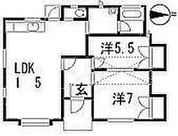 [テラスハウス] 広島県広島市安佐南区大町西3丁目 の賃貸【/】の間取り