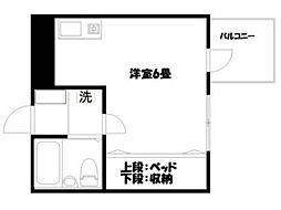 パティオ武蔵野[2階]の間取り