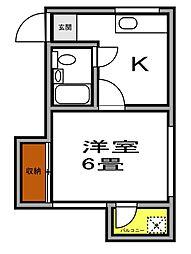 ハウスオギワラ[3階]の間取り