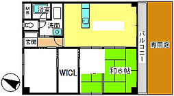 サンコーポ三筑[107号室]の間取り