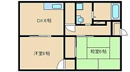 大阪府東大阪市菱江2丁目の賃貸アパートの間取り