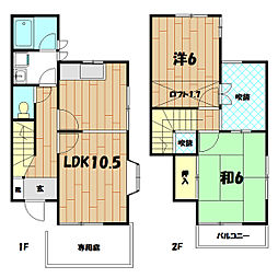 [テラスハウス] 神奈川県横浜市泉区緑園2丁目 の賃貸【/】の間取り