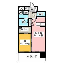 プレミア ステーション 西口[4階]の間取り