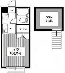 ニューあづま荘II[101号室]の間取り