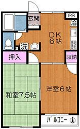 東京都荒川区西尾久6丁目の賃貸マンションの間取り
