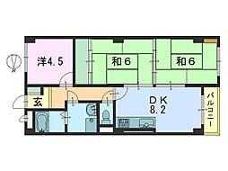 シティパレス本田[3階]の間取り