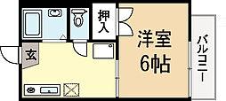 バーンフリート富野荘[2階]の間取り