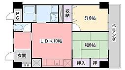 エクセラージュ夙川[4階]の間取り