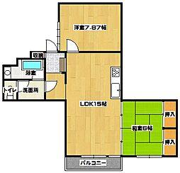 カーサ三萩野[3階]の間取り