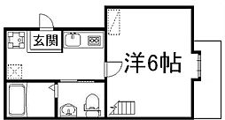 ウエスト9ミラー1号館[2階]の間取り