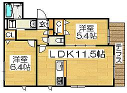 シエルクレール[3階]の間取り