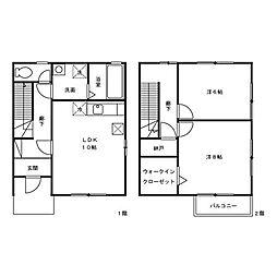 [テラスハウス] 神奈川県相模原市緑区大島 の賃貸【/】の間取り