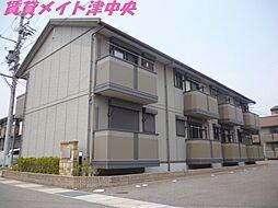 三重県津市高茶屋小森上野町の賃貸アパートの外観