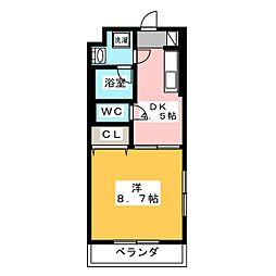 マンションエストメール[1階]の間取り