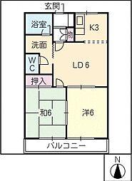 M・F辻ヶ鼻[1階]の間取り