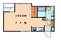 サンリバーハウス[1階]の間取り