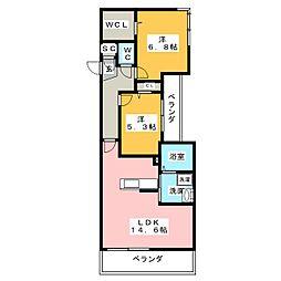 ベレオ月見ヶ岡[3階]の間取り