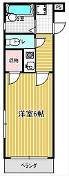 コンフォートマンション桜木町[839号室]の間取り