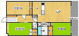 フィールド都府楼[4階]の間取り